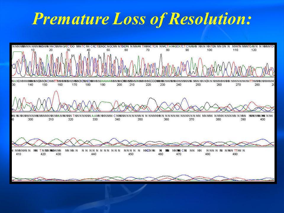 Premature Loss of Resolution: