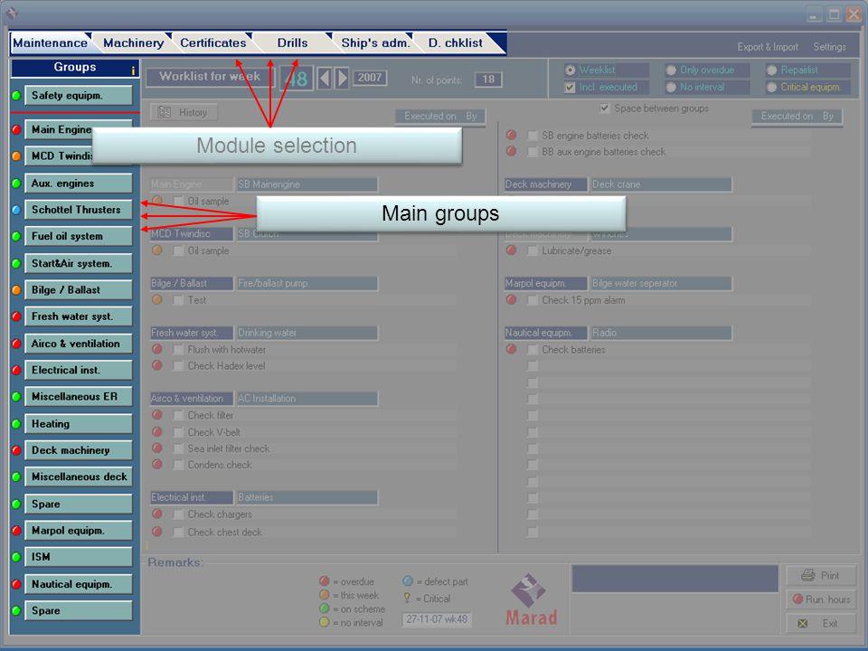 Main groups