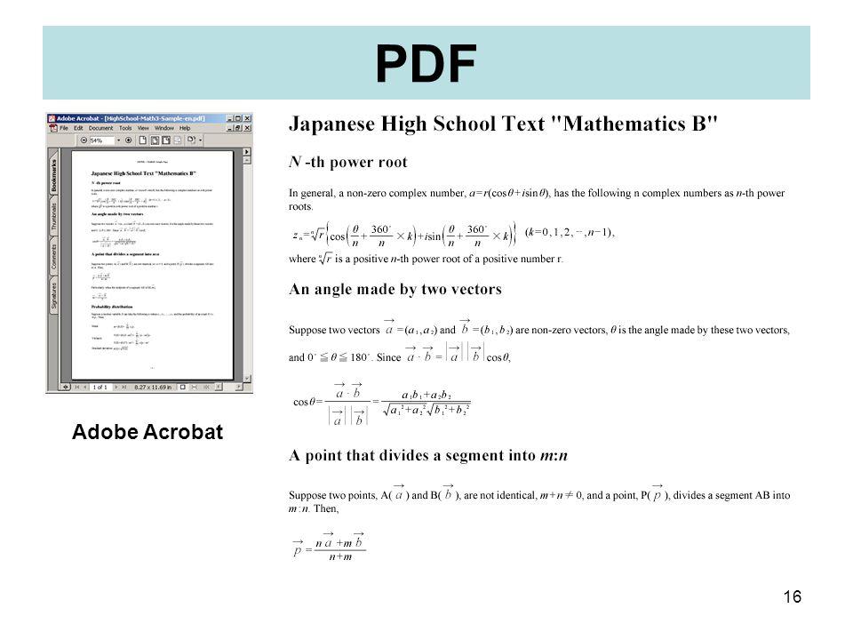 16 PDF Adobe Acrobat
