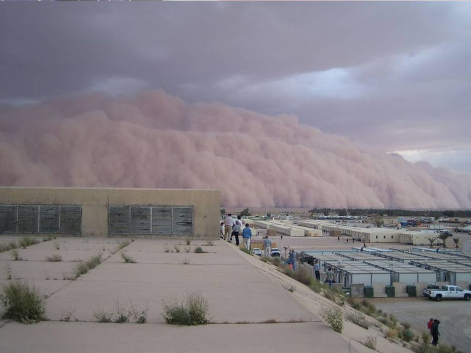 V3.00 33 SAND, DUST, AND WIND (NUMBER ONE COMPLAINT) Sand, wind, and dust cause health problems, particularly to skin, eyes, throat and lungs High win
