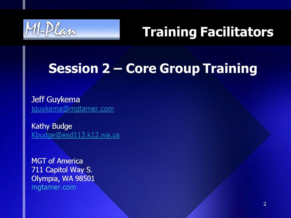 13 MI-Plan School Improvement Planning Process Guide (SIP Guide) Use in training professional development providers.