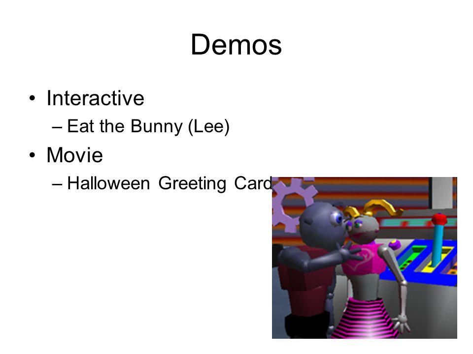 Demos Interactive –Eat the Bunny (Lee) Movie –Halloween Greeting Card