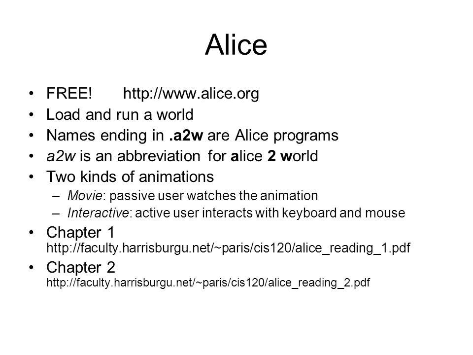 Alice FREE.