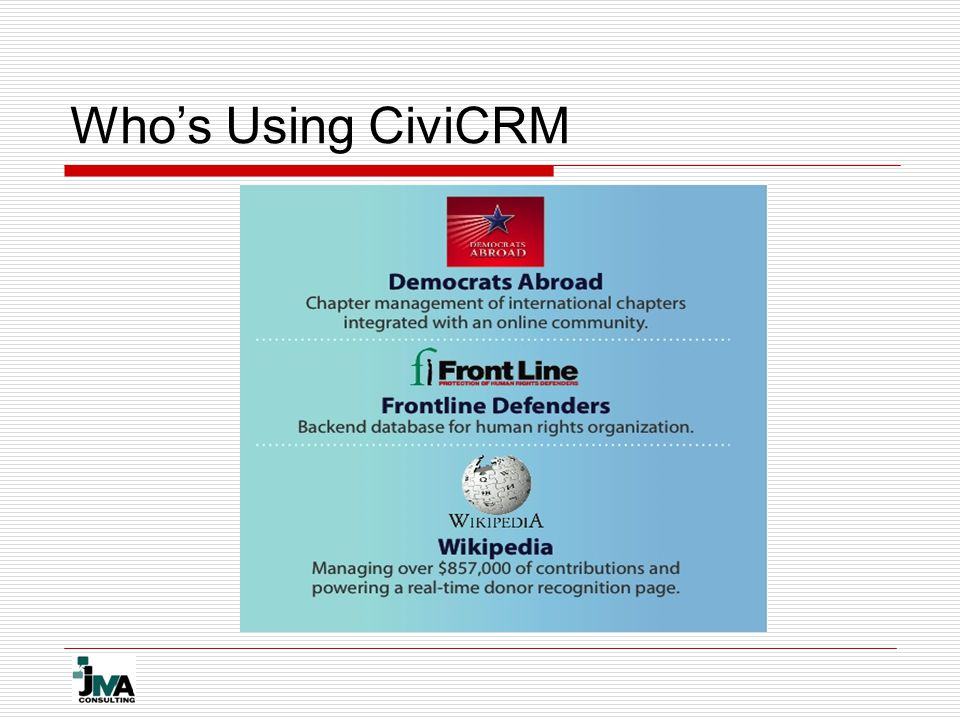 Who's Using CiviCRM