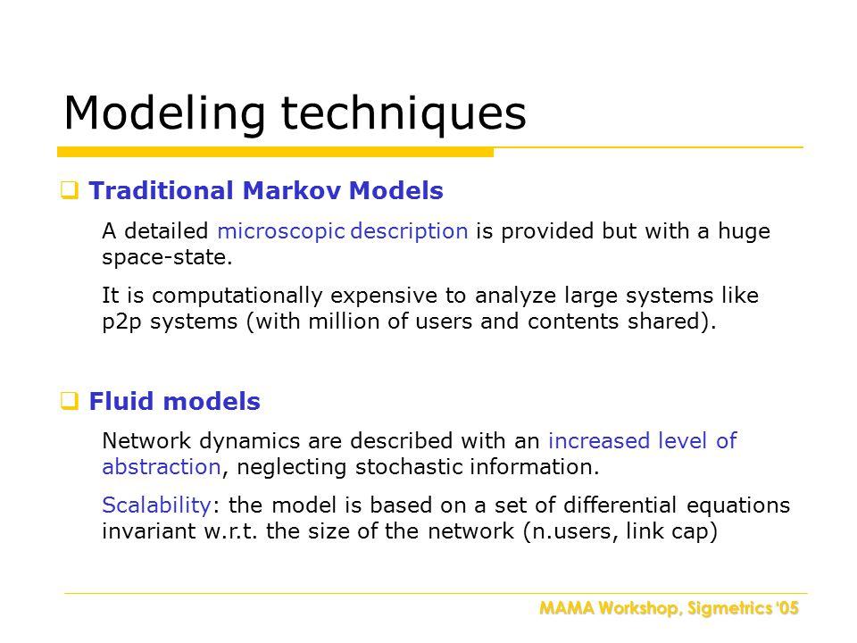 MAMA Workshop, Sigmetrics '05 Model description [1]F.