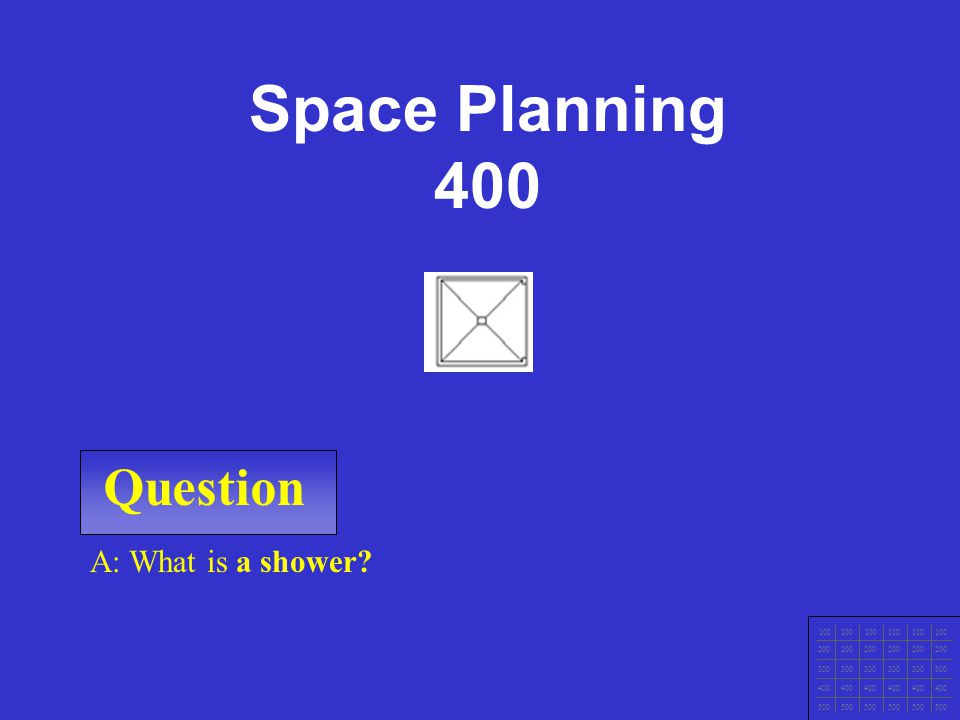 Question 100 200 300 400 500 A: What is a range? Space Planning 300