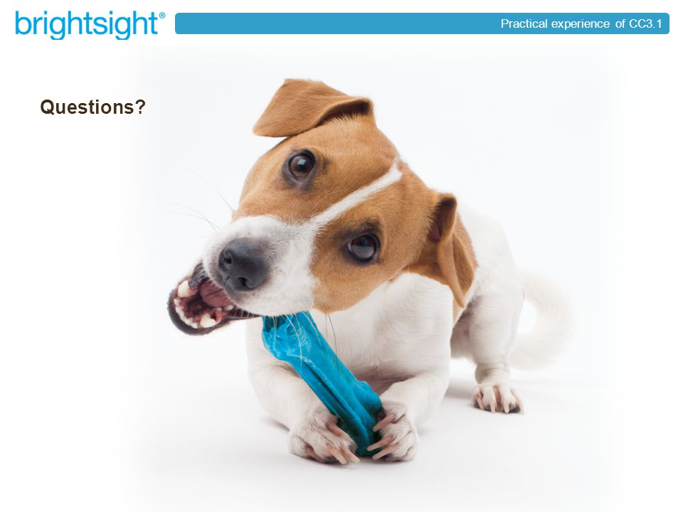 page 40brightsight ® your partner in security approval Practical experience of CC3.1 Questions