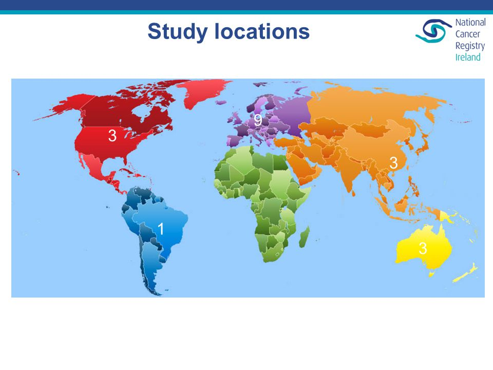 Study locations 3 1 3 9 3