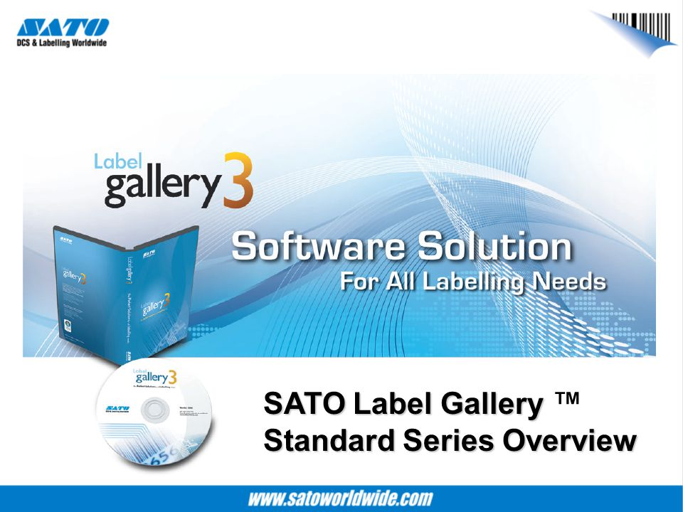 SATO Label Gallery Standard Series Overview SATO Label Gallery ™ Standard Series Overview