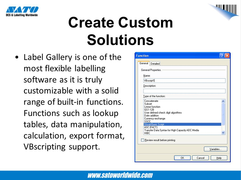Create Custom Solutions Label Gallery is one of the most flexible labelling software as it is truly customizable with a solid range of built-in functi