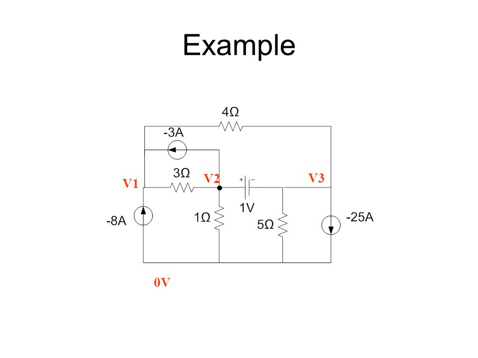 Example V1 V2 V3 0V