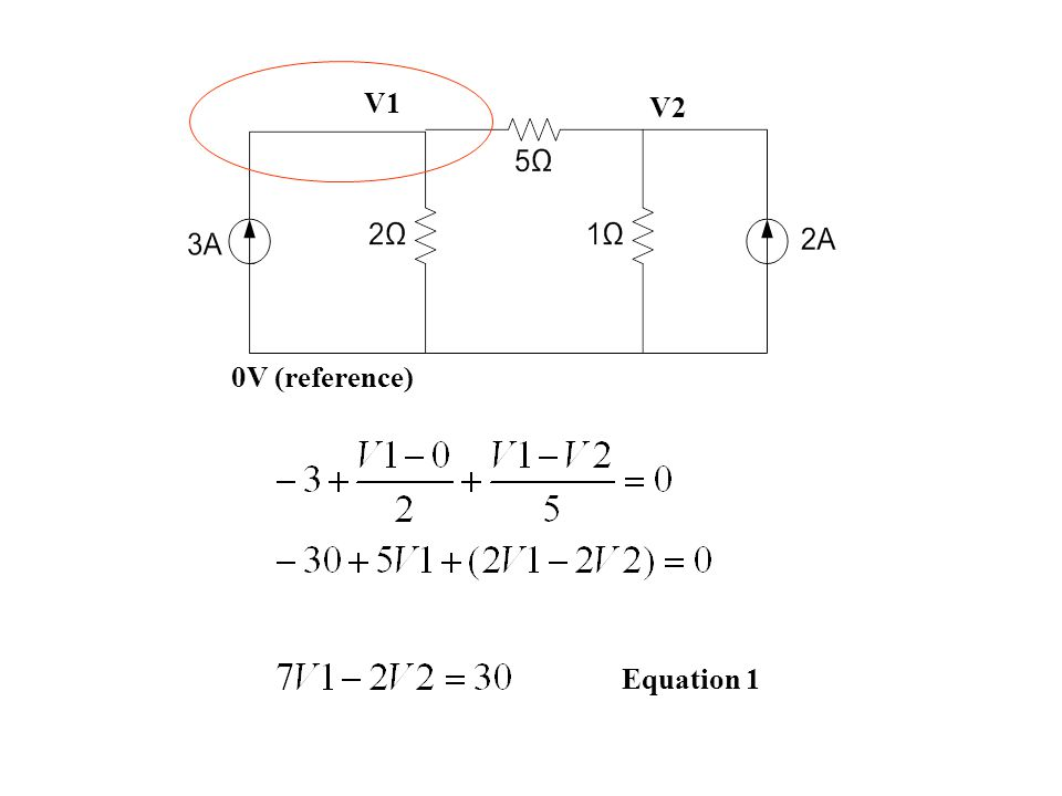 0V (reference) V1 V2 Equation 1