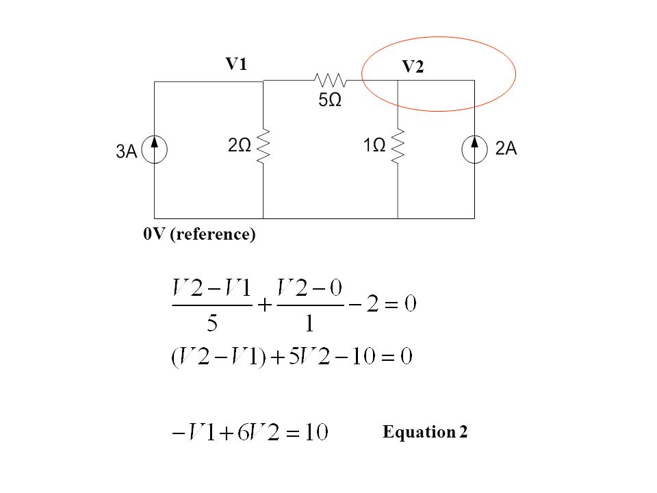 0V (reference) V1 V2 Equation 2