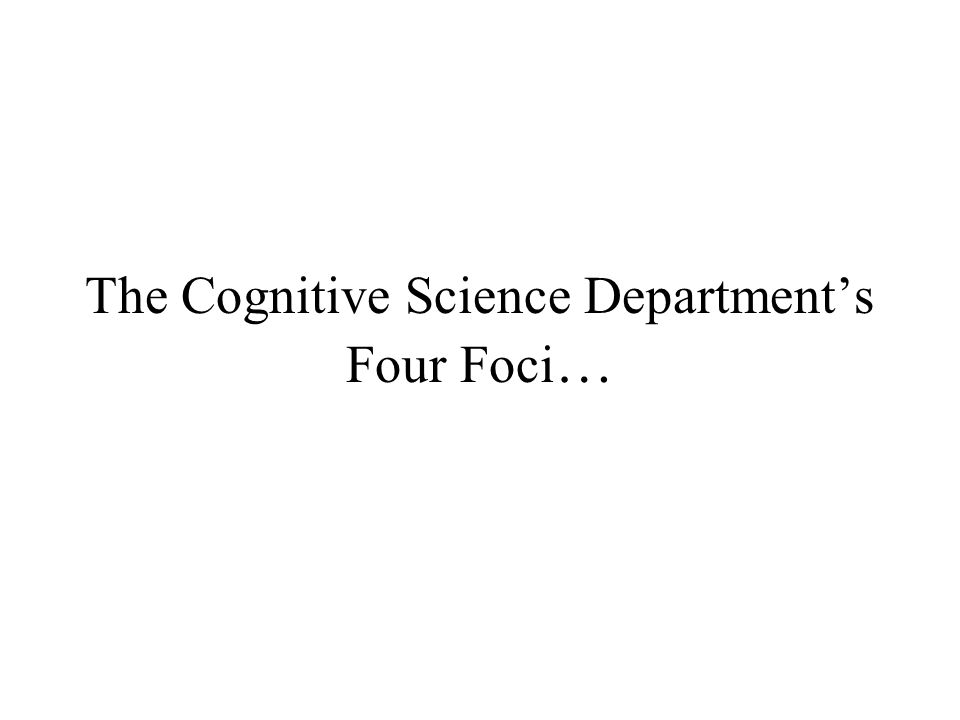 What is Cognitive Science? Cognitive Science is the attempt to understand, simulate, and replicate cognitive systems or intelligent agents (which are