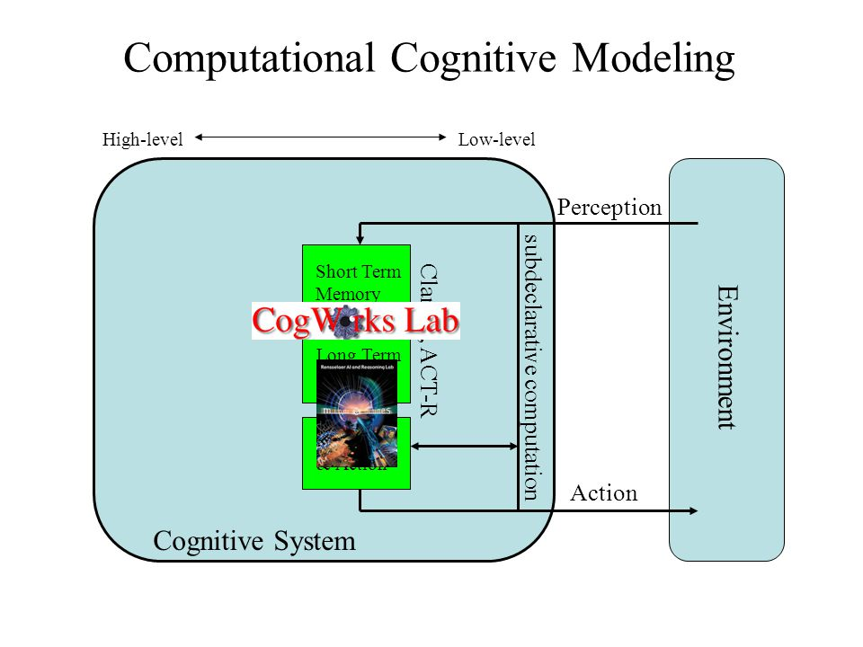 Cognitive System Environment Perception Action Perception and Action Low-level High-level subdeclarative computation
