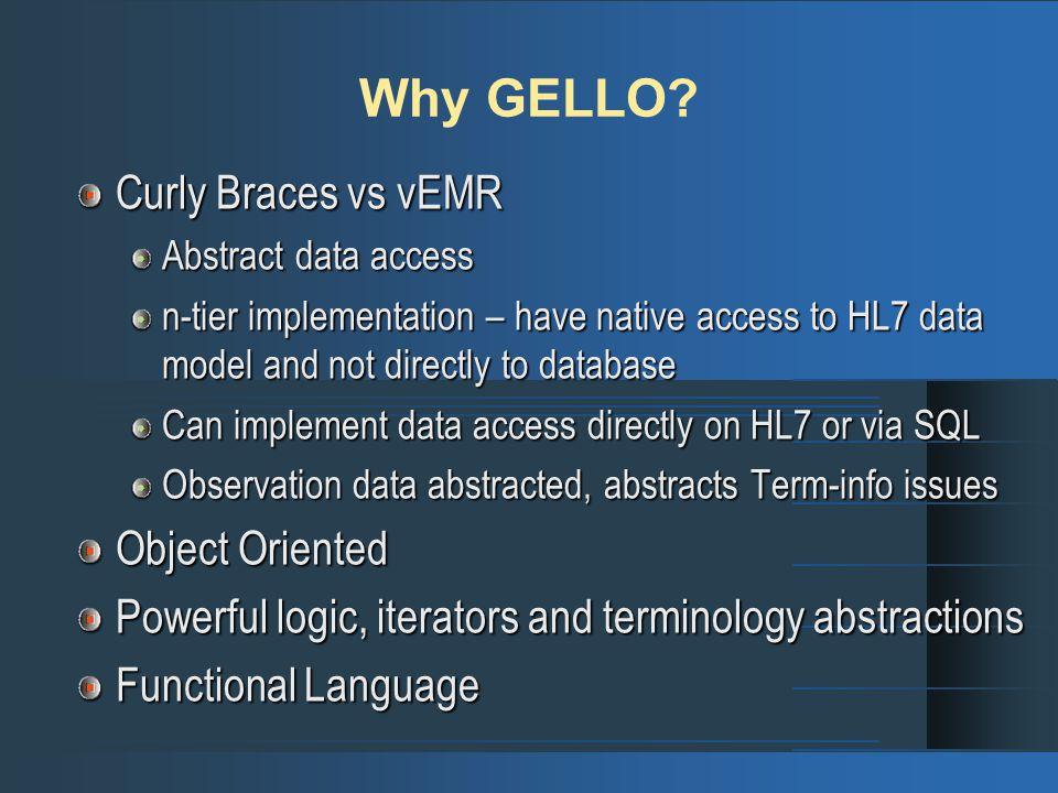Why GELLO.