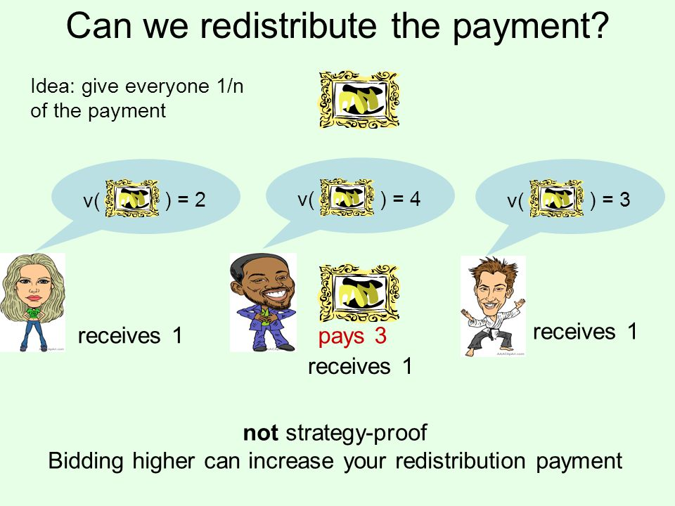 Can we redistribute the payment.