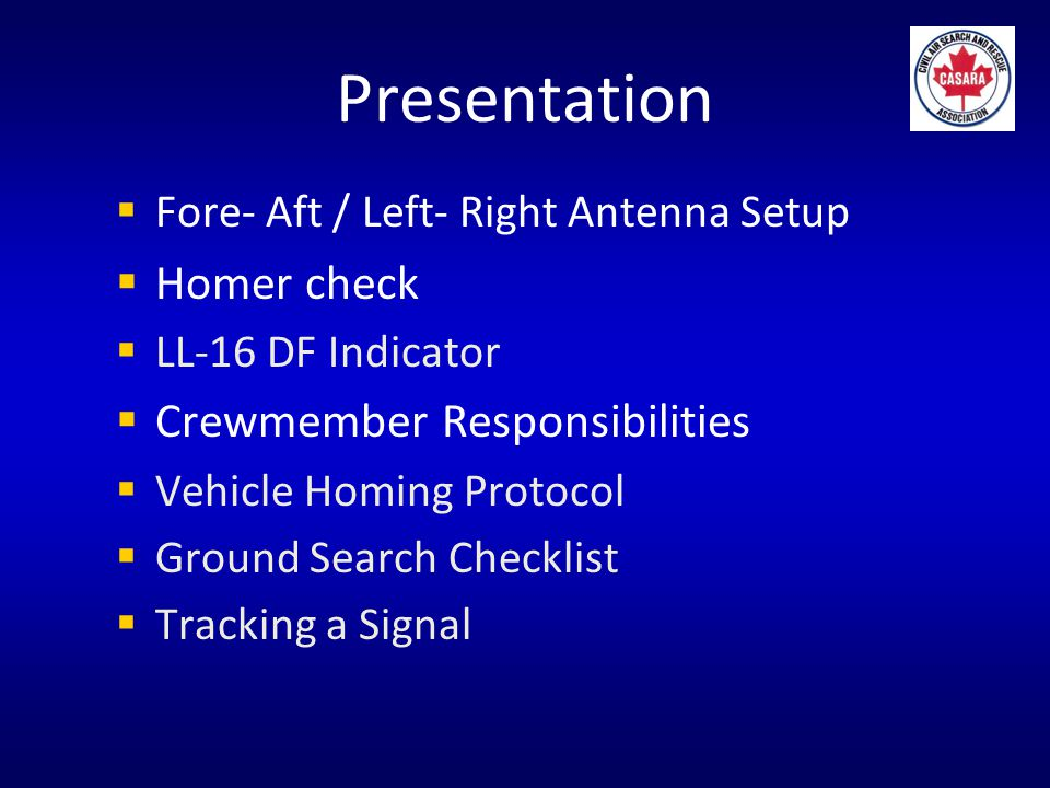 Using the LL-16 Fore- Aft / Left- Right Antenna Setup