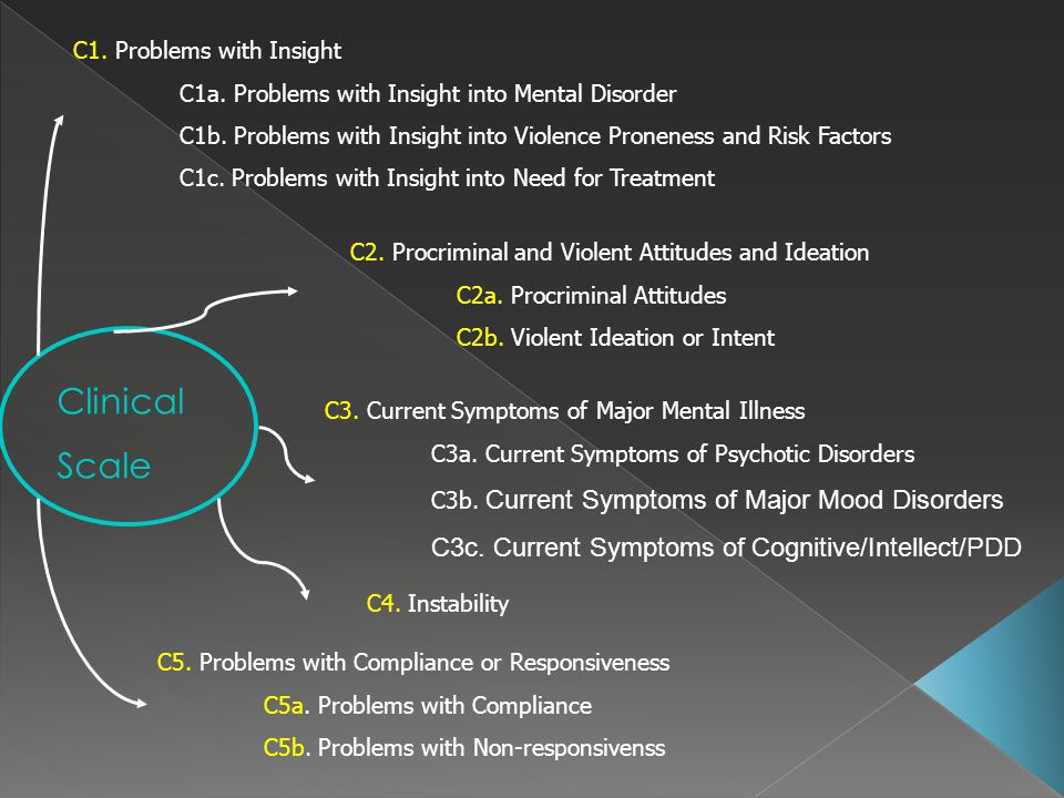 Clinical Scale C1. Problems with Insight C1a. Problems with Insight into Mental Disorder C1b. Problems with Insight into Violence Proneness and Risk F