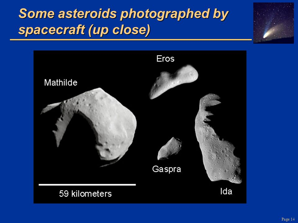 Page 14 Some asteroids photographed by spacecraft (up close)