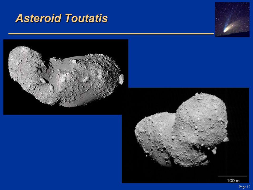 Page 17 Asteroid Toutatis