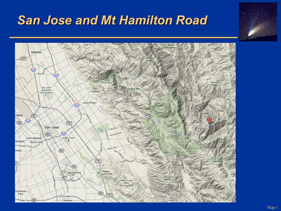 Page 5 San Jose and Mt Hamilton Road