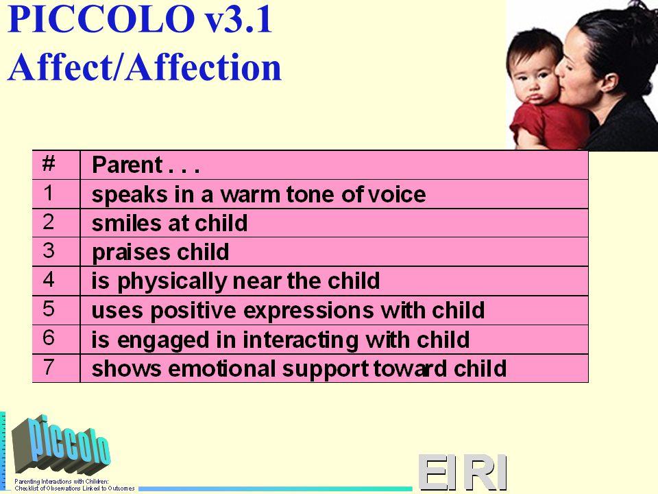 PICCOLO v3.1 Affect/Affection