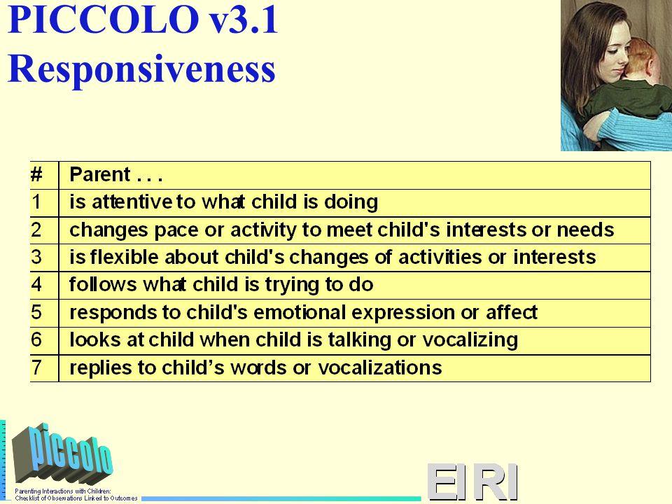 PICCOLO v3.1 Responsiveness