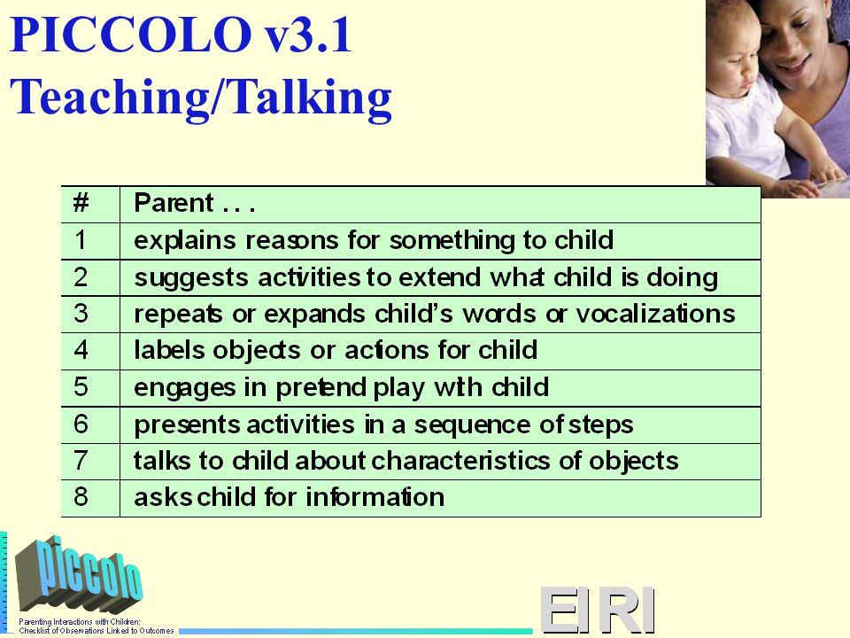 PICCOLO v3.1 Teaching/Talking