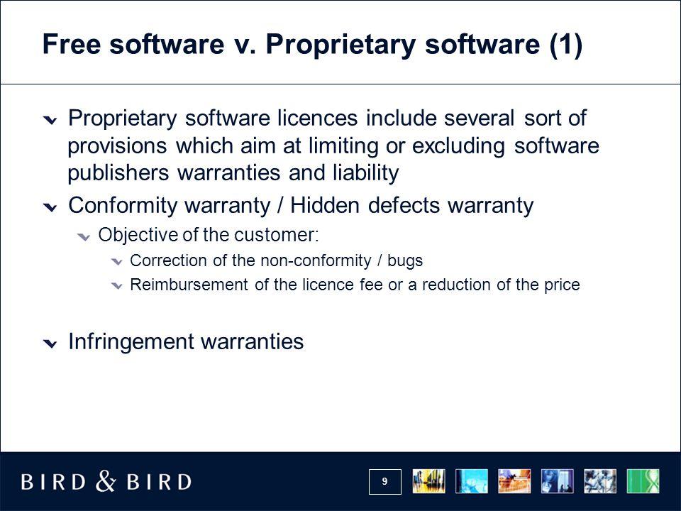 9 Free software v.