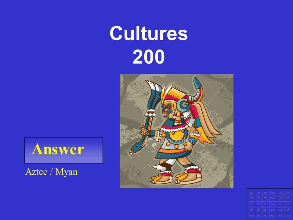 CCNA1 v3 Module 1 Answer 100 200 300 400 500 Egyptian Cultures 100
