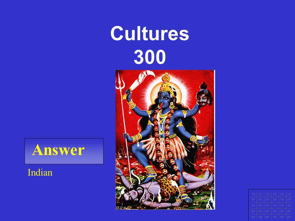CCNA1 v3 Module 1 Answer 100 200 300 400 500 Aztec / Myan Cultures 200