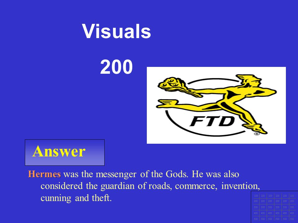 CCNA1 v3 Module 1 Answer 100 200 300 400 500 Ajax was a hero and a solider in the Trojan War who fought against the Greeks.
