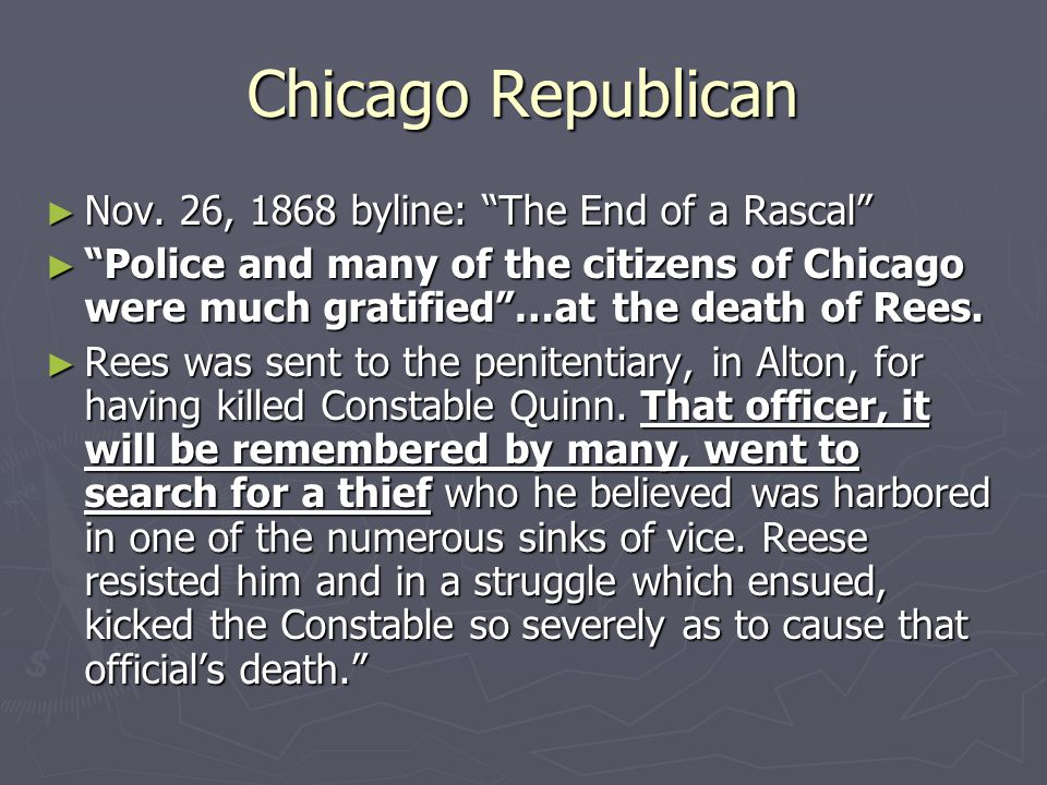 Chicago Republican ► Nov.