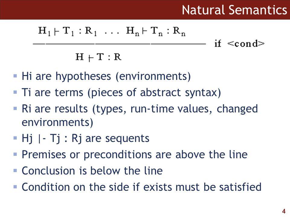 5 Natural Semantics vs.