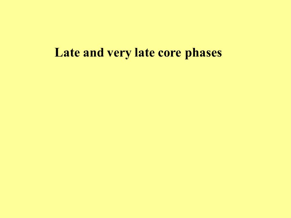 Late and very late core phases