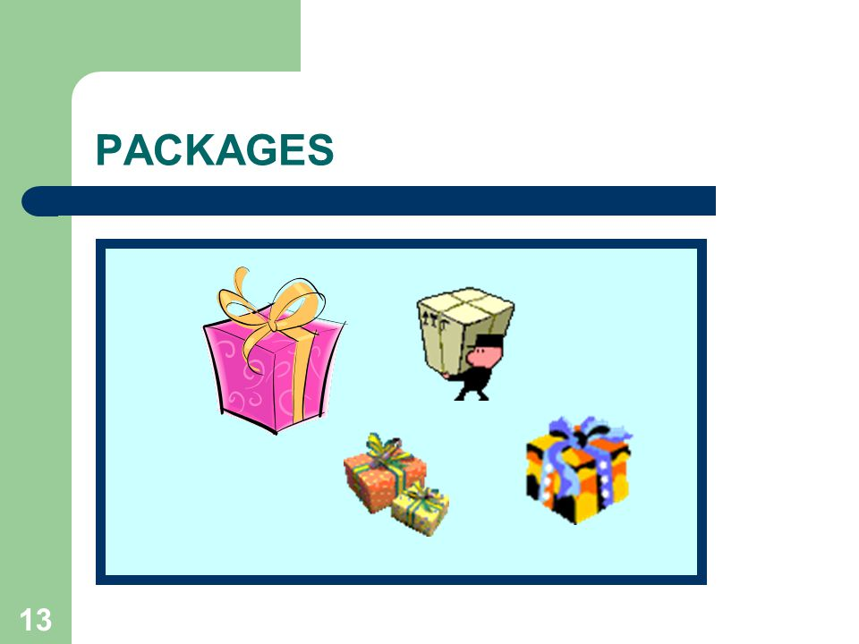 13 PACKAGES
