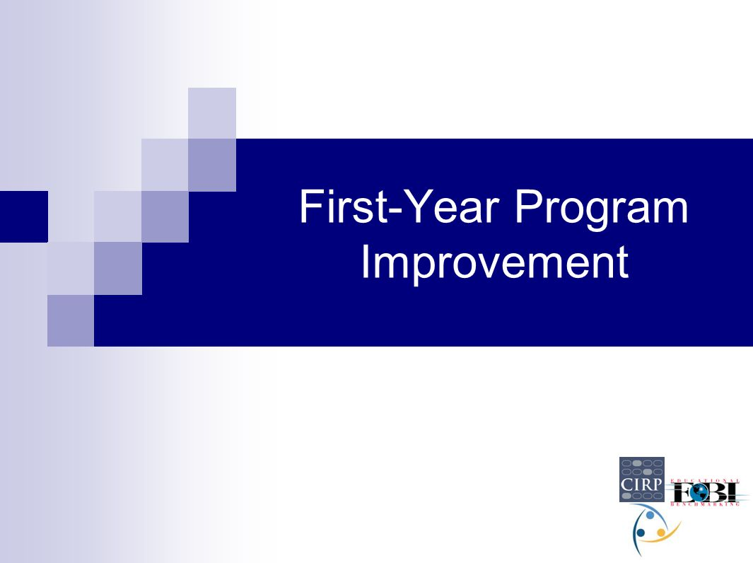 First-Year Program Improvement