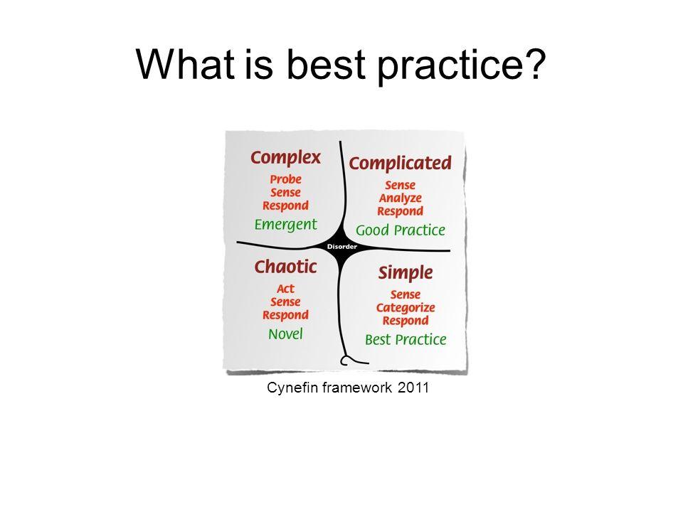 Cynefin framework 2011