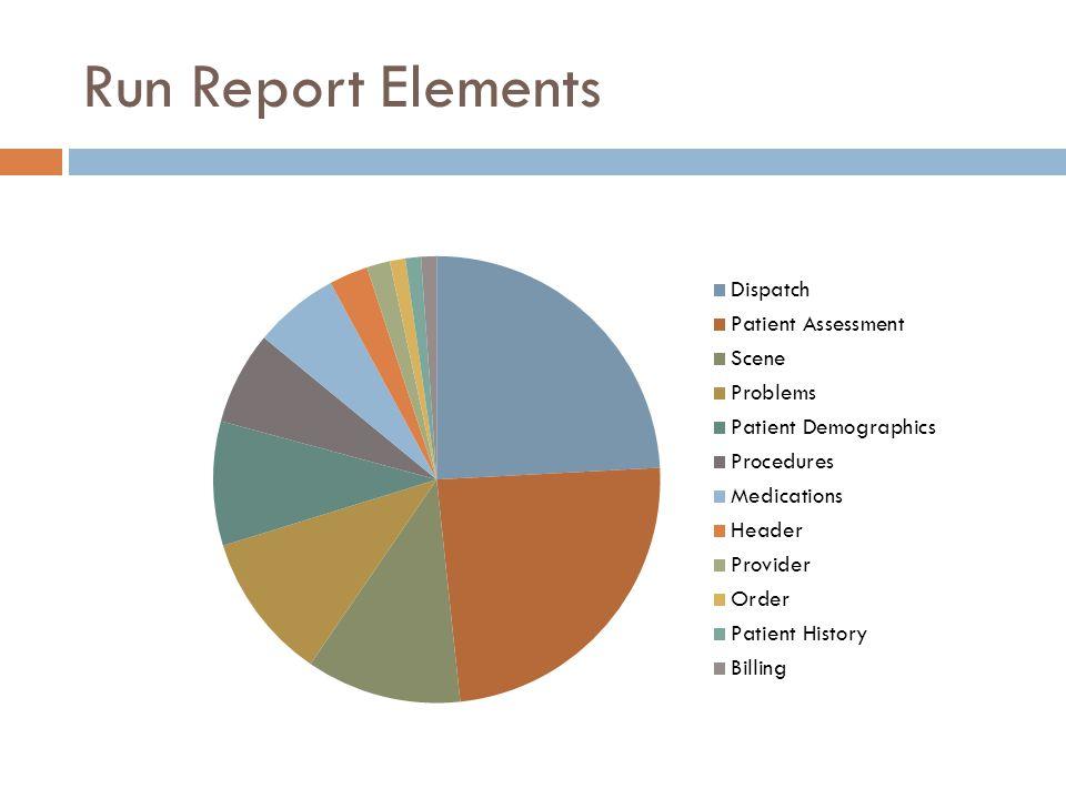 Run Report Elements