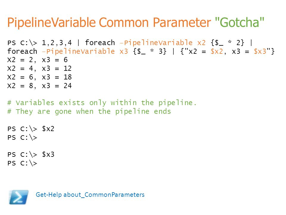 PipelineVariable Common Parameter