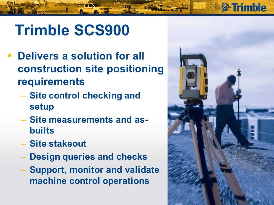 Setup Trimble UTS for Machine Control  Very similar Workflow like in SCS900 v2  Station Establishment first, then…