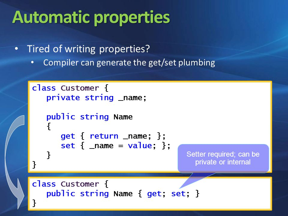 Automatic properties Tired of writing properties.