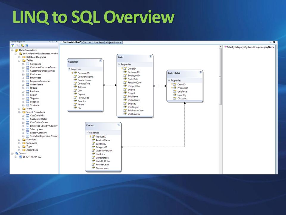 LINQ to SQL Overview