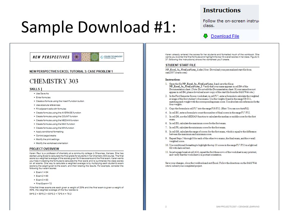 Sample Download #1: