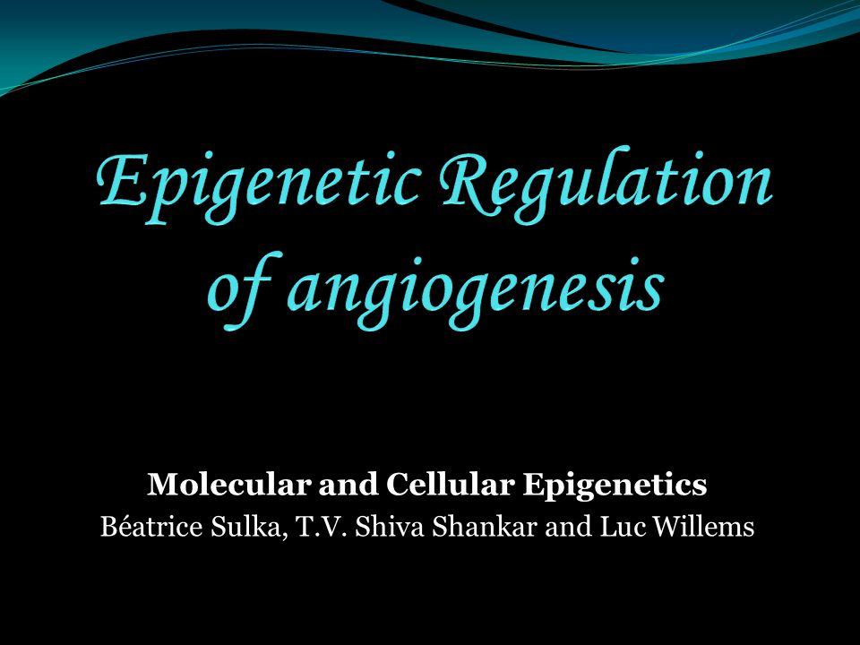 Molecular and Cellular Epigenetics Béatrice Sulka, T.V. Shiva Shankar and Luc Willems