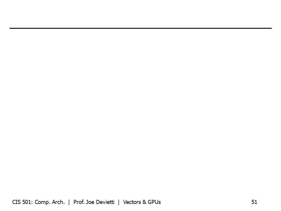 CIS 501: Comp. Arch. | Prof. Joe Devietti | Vectors & GPUs51