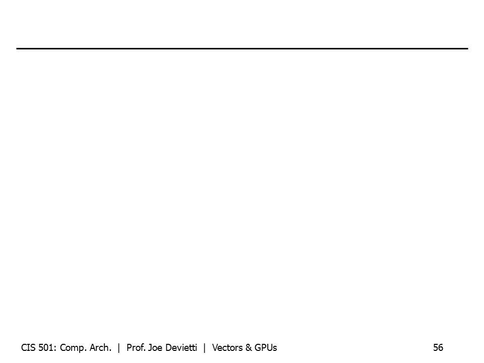CIS 501: Comp. Arch. | Prof. Joe Devietti | Vectors & GPUs56