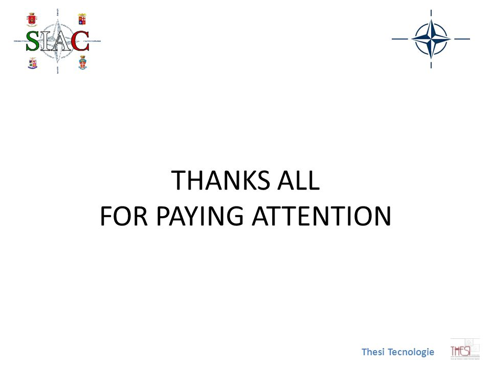 THANKS ALL FOR PAYING ATTENTION Thesi Tecnologie