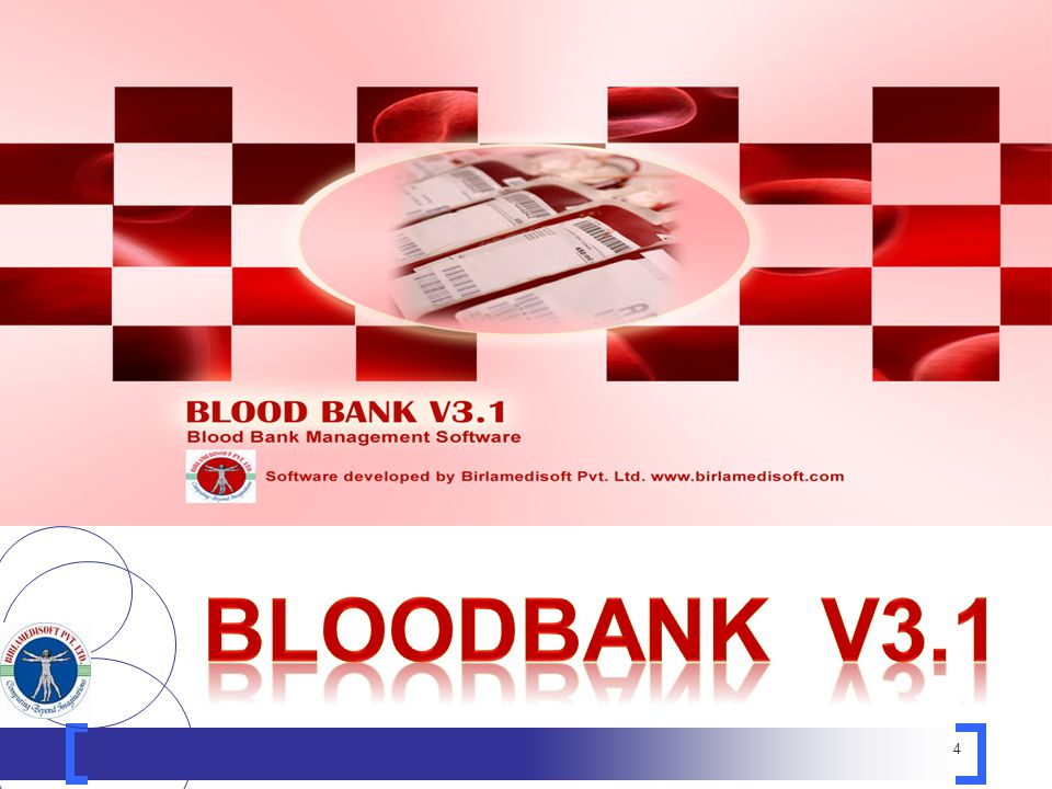 5 Blood Bank Manager V3.1: The complete software kit for managing a Blood Bank administration.